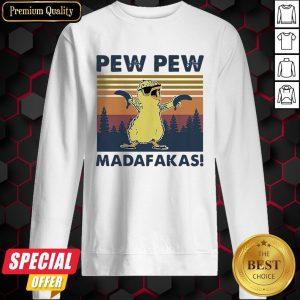 Baby Chicken Pew Pew Madafakas Vintage Retro Sweatshirt