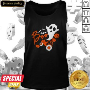 Boo Ghost Rider Tractor Farmer Pumpkin Halloween Costume Tank Top