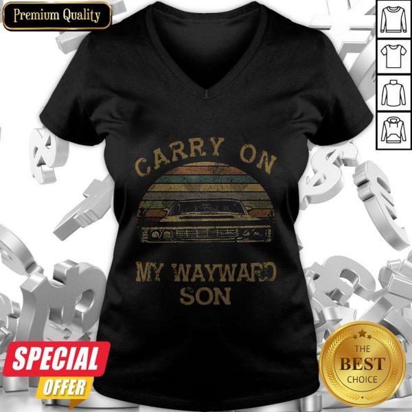 Carry On My Wayward Son Vintage V-neck