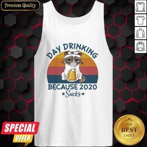 Cat Nurse Beer Day Drinking Because 2020 Sucks Vintage Retro Tank Top