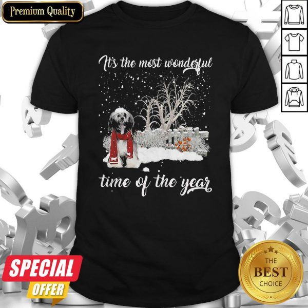 Chinese Crested It's The Most Wonderful Time Of The Year Shirt