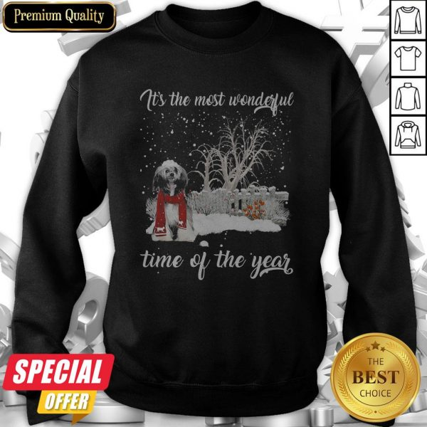 Chinese Crested It's The Most Wonderful Time Of The Year Sweatshirt