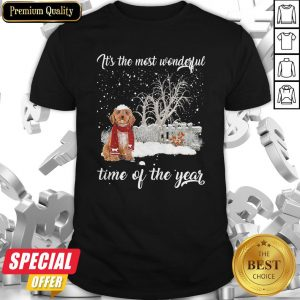 Cockapoo It's The Most Wonderful Time Of The Year Shirt