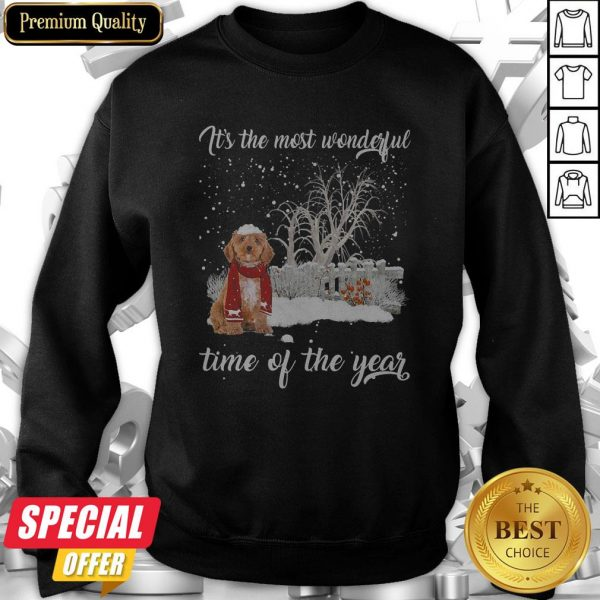 Cockapoo It's The Most Wonderful Time Of The Year Sweatshirt