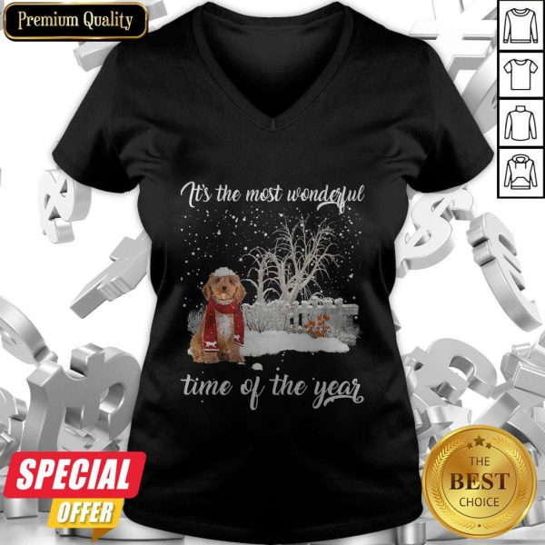 Cockapoo It's The Most Wonderful Time Of The Year V-neck