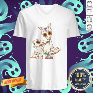 Cubone And Mama Pokemon Sugar Skulls Dia De Muertos Day Dead V-neck