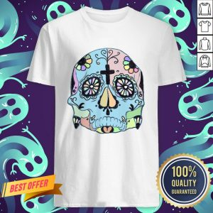 Day Of The Dead Dia De Los Muertos Psychedelic Pastel Sugar Skull Shirt