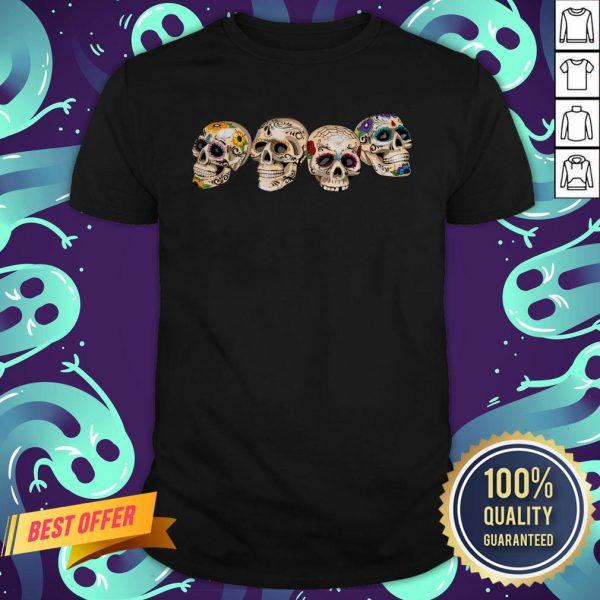 Day Of The Dead Dia De Los Muertos Sugar Skulls Shirt