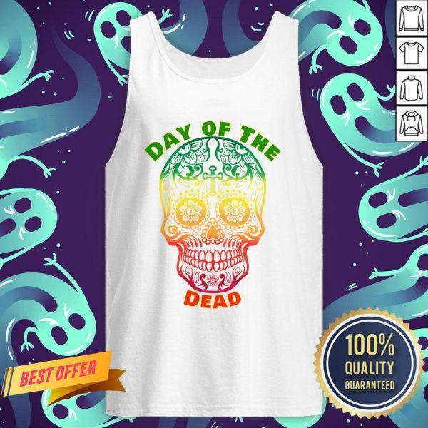 Day Of The Dead Muertos Sugar Skull Color Tank Top
