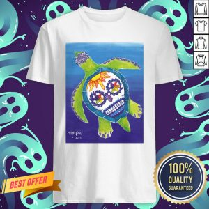 Day Of The Dead Sugar Skull Sea Turtle Shirt