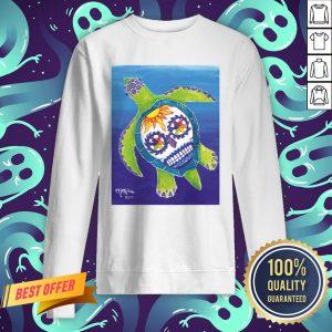 Day Of The Dead Sugar Skull Sea Turtle Sweatshirt