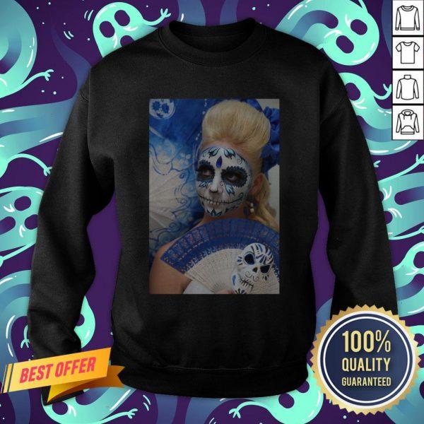 Dia Des Los Muertos Sugar Skulls Girl Day Of The Dead Sweatshirt