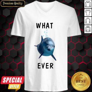 Dolphin What Ever Vintage Retro V-neck