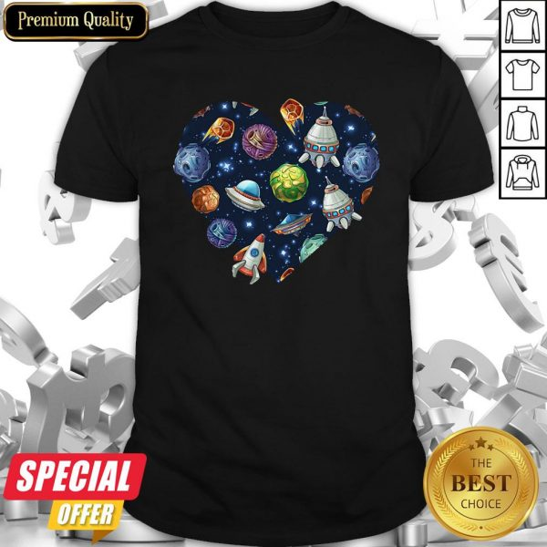 Funny Space Heart Shirt