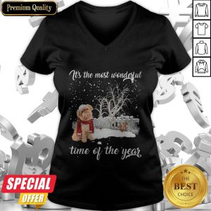 Griffon Bruxellois It's The Most Wonderful Time Of The Year V-neck