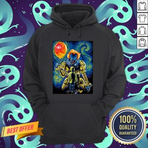 Halloween Pennywise Holding Balloon Starry Night Hoodie