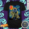Halloween Pennywise Holding Balloon Starry Night Shirt