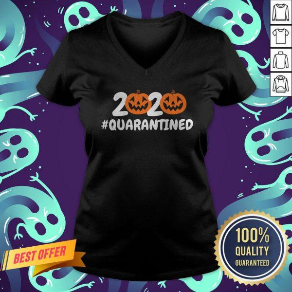 Halloween Pumpkins 2020 Quarantined V-neck