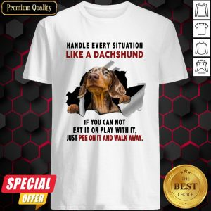 Handle Every Situation Like A Dachshund If You Can Not Eat It Or Play With It Shirt