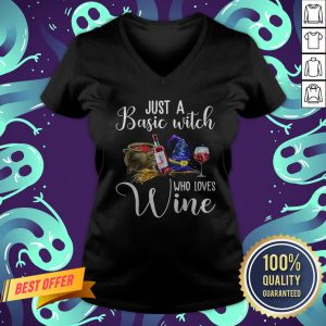 Just A Basic Witch Who Love Wine V-neck