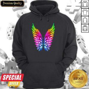 LGBT Rainbow Colored Angel Wings Lesbian And Gay Pride LGBT Hoodie