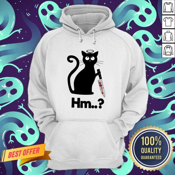 Nice Black Cat Angel Knife Hmm Hoodie