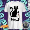 Nice Black Cat Angel Knife Hmm Shirt