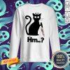 Nice Black Cat Angel Knife Hmm Sweatshirt