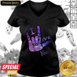 Nice I Love You Sign Language V-neck