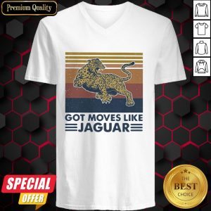 Panther Got Moves Like Jaguar Vintage Retro V-neck