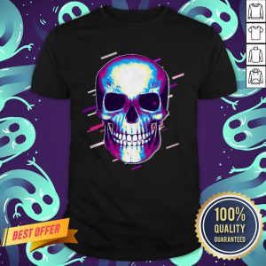 Skull Day Of The Dead Eighties Retro Violet And Purple Halloween Shirt
