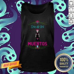 Skull Girl Dia De Los Muertos Day Of The Dead Tank Top