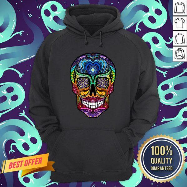 Sugar Skull Colorful Day Of The Dead Dia De Muertos Hoodie