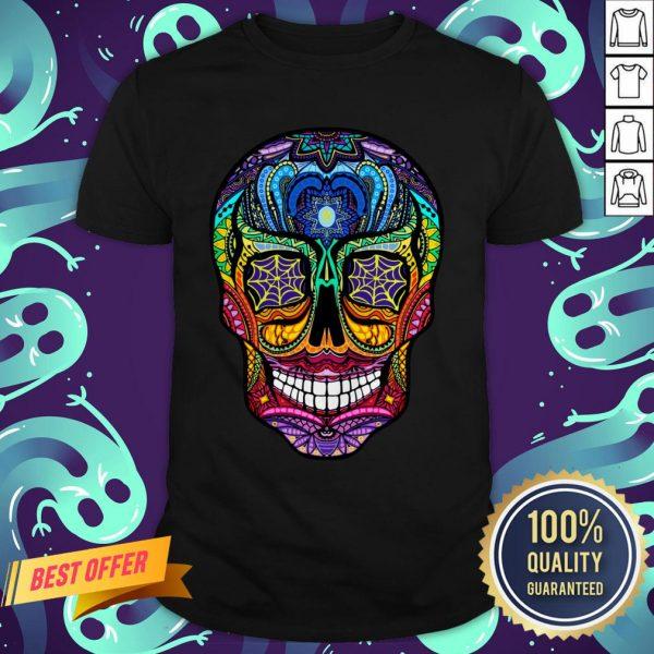 Sugar Skull Colorful Day Of The Dead Dia De Muertos Shirt