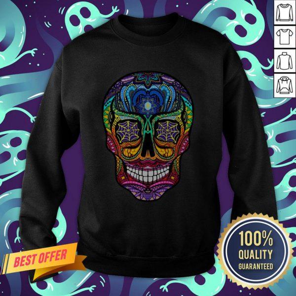 Sugar Skull Colorful Day Of The Dead Dia De Muertos Sweatshirt