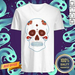 Sugar Skull Day Of The Dead Dia De Muertos V-neck