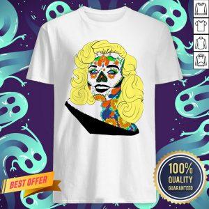 Sugar Skull Girl Movie Star Dia De Muertos Day Of The Dead Shirt