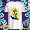 Sugar Skull Girl Movie Star Dia De Muertos Day Of The Dead V-neck