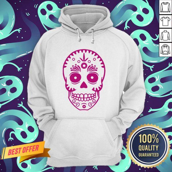 Sugar Skull Purple Day Of The Dead Muertos Hoodie