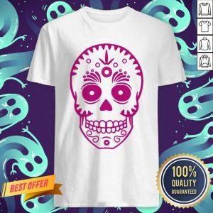 Sugar Skull Purple Day Of The Dead Muertos Shirt