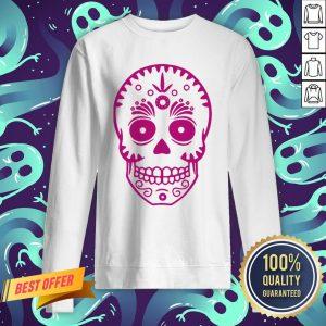 Sugar Skull Purple Day Of The Dead Muertos Sweatshirt