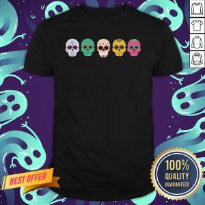 Sugar Skull Rainbow Day Of The Dead Shirt