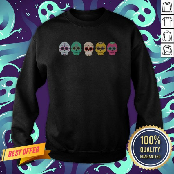 Sugar Skull Rainbow Day Of The Dead Sweatshirt