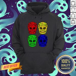 Sugar Skulls Colorful Dia De Los Muertos Day Dead Hoodie