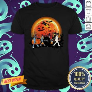 The Beatles Abbey Road Moon Pumpkin Halloween Classic T-shirt
