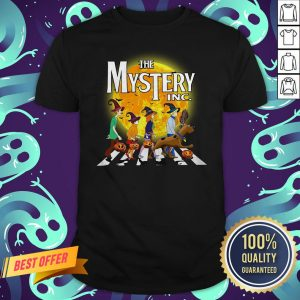 The Mystery INC Scooby Doo Abbey Road Parody Moon Halloween Shirt