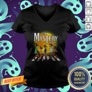 The Mystery INC Scooby Doo Abbey Road Parody Moon Halloween V-neck