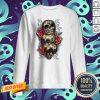 Three Sugar Skulls With Roses Dia De Muertos Day Of Dead Sweatshirt