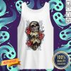 Three Sugar Skulls With Roses Dia De Muertos Day Of Dead Tank Top