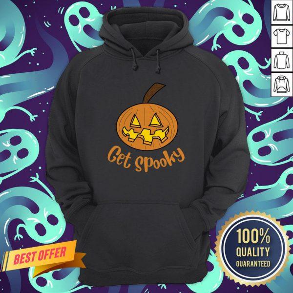 Top Get Spooky Pumpkin Happy Halloween Hoodie